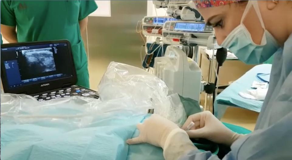 Donado un ecógrafo para unidad de oncología pediátrica de La Arrixaca